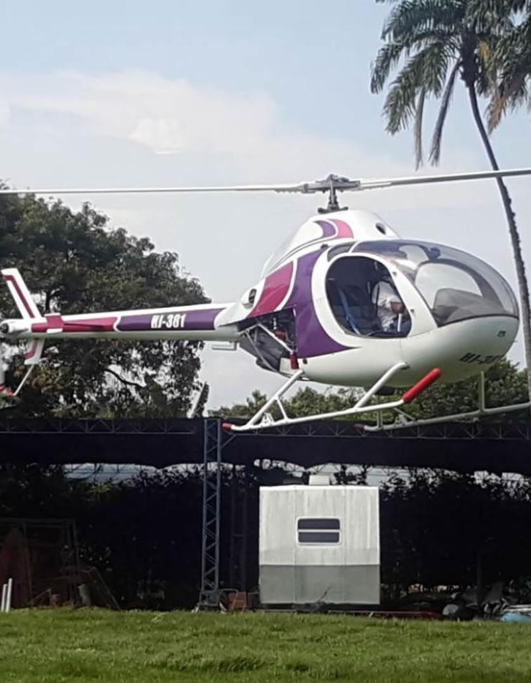 Exhibición de Helicóptero