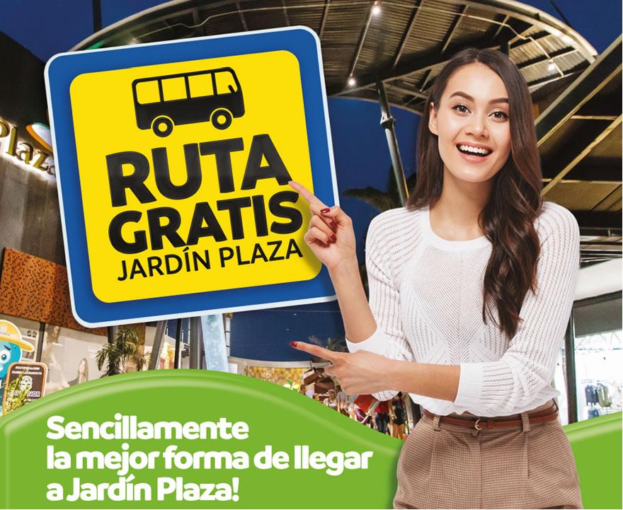Ruta gratis Jardín Plaza